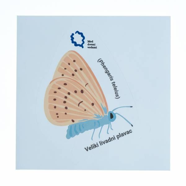 Naljepnica - leptir plavac